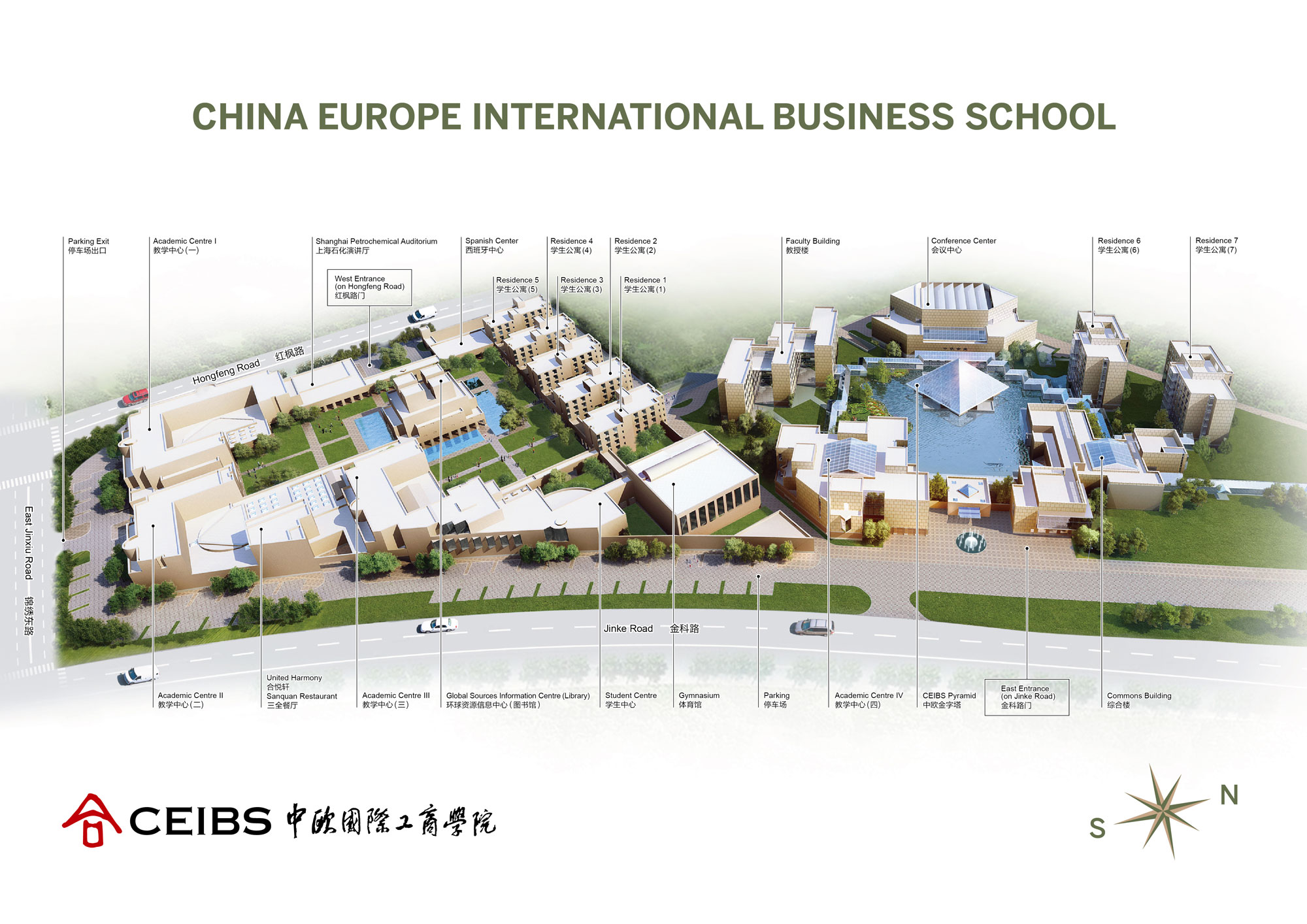The Best Business School In China China Europe International - Shanghai on map with us