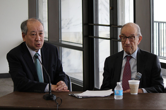 CEIBS Vice President Zhang Weijiong & Alan Greenspan Discuss China &US Economies